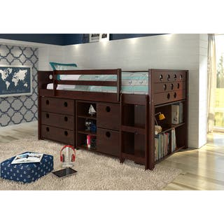 Donco Kids Circles Modular Low Loft Twin Bed|https://ak1.ostkcdn.com/images/products/10840659/P17882047.jpg?impolicy=medium