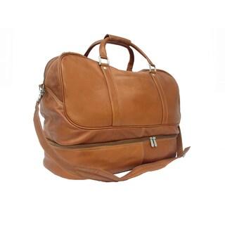 Piel Leather False-Bottom Sports Duffel Bag