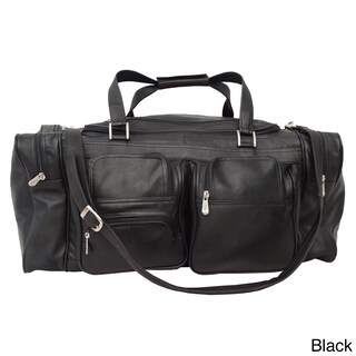 Piel Leather 24-inch Duffel with Pockets (3 options available)