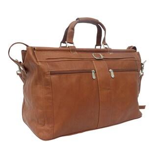 Piel Leather Carpet Bag with Pockets