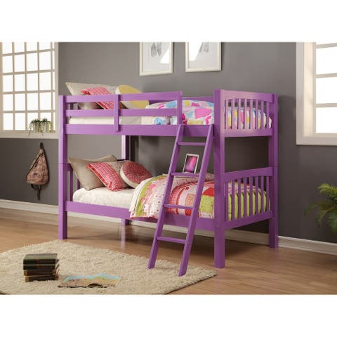 Donco Kids Grapevine Twin Over Twin Grape Finish Bunk Bed