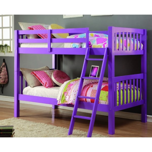 Donco Kids Grapevine Twin Over Grape Finish Bunk Bed