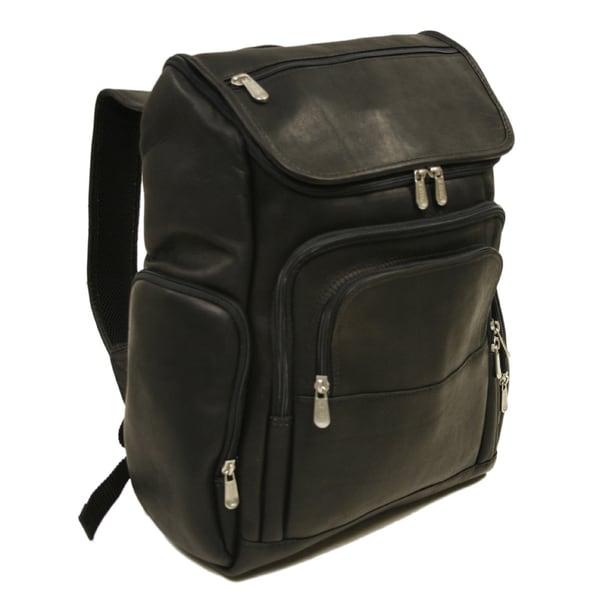 Piel Leather Multi-Pocket Laptop Backpack