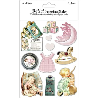Bella! Baby Girl 3D Stickers