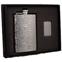 Visol Golfer Stainless Steel Elite Flask & Zippo Lighter Gift Set - 8 ounces