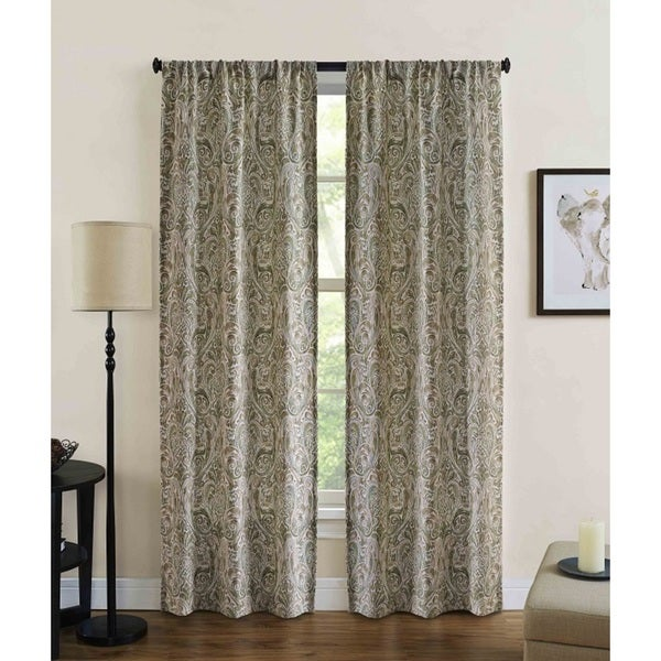 Shop Dolce Rod Pocket 84-Inch Curtain Panel Pair (Set of 2) - 80 x ...