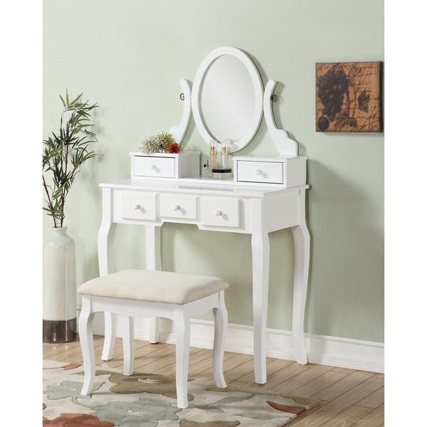 oak makeup vanity set. Maison Rouge Alice Wood Makeup Vanity Table and Stool Set  Free