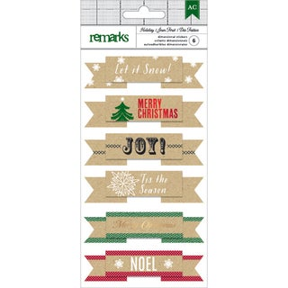 American Crafts Holiday Remarks Layered Stickers-Let It Snow
