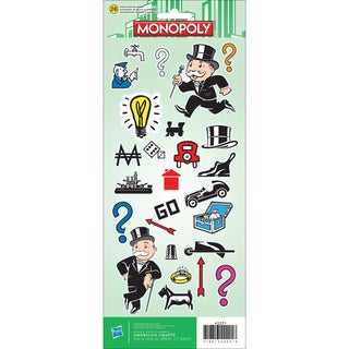 "Cardstock Stickers 4.75""X12"" Sheet-Monopoly"