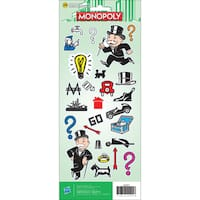 """Cardstock Stickers 4.75""""X12"""" Sheet-Monopoly"""