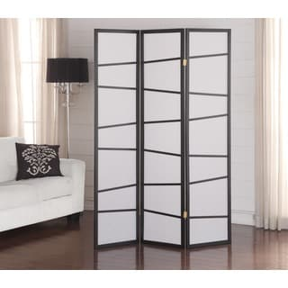 Black 3-panel Screen Room Divider