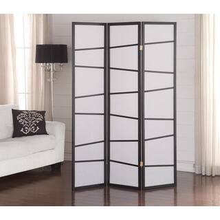 Black 3-Panel Screen Room Divider