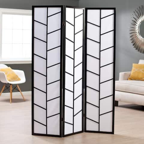 Black 3-Panel Climbing Screen Room Divider