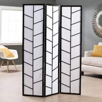 Black 3-Panel Climbing Screen Room Divider