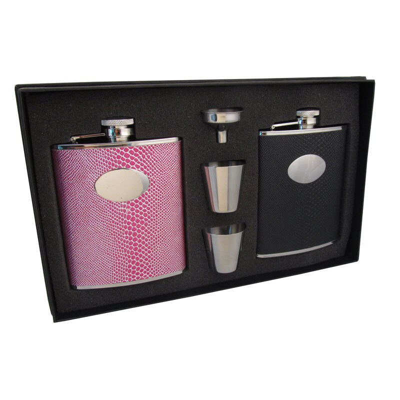 Visol Corspa & Viper His & Her Liquor Flask Gift Set - 6 ...