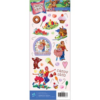 """Cardstock Stickers 4.75""""X12"""" Sheet-Candy Land Vintage"""