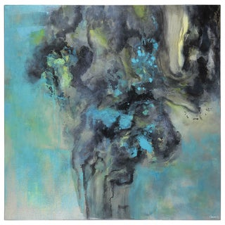 Ren Wil Turquoise Echoes Unframed Canvas Art