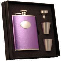Visol Violet Satin Purple Supreme Flask Gift Set - 6 ounces