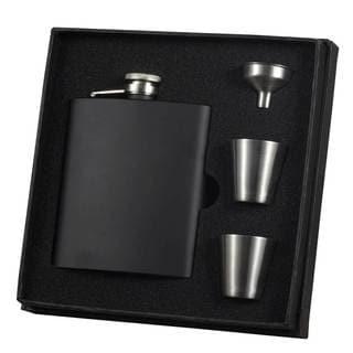 Visol Raven Black Matte Supreme Flask Gift Set - 8 ounces