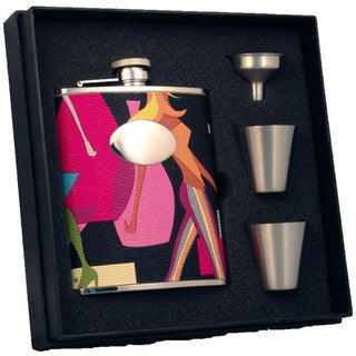 Visol Fashion Contemporary Supreme Flask Gift Set - 6 ounces