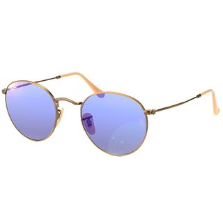Ray-Ban Unisex RB 3447 Round Metal 167/68 Brushed Bronze Sunglasses