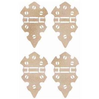 Wood Flourishes 4/Pkg-Mini Hinges