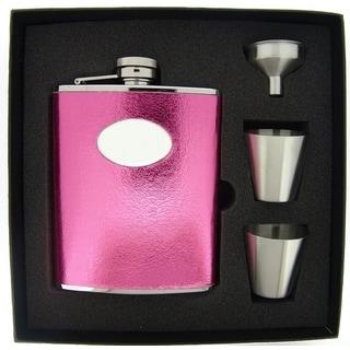 Visol Lydia Hot Pink Supreme Flask Gift Set - 6 ounces