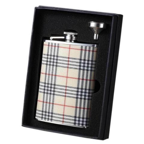 Visol Hank Plaid Wrapped Essential II Liquor Flask Gift Set - 8 ounces