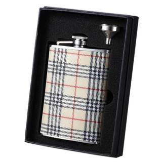 Visol Hank Plaid Wrapped Essential II Liquor Flask Gift Set - 8 ounces