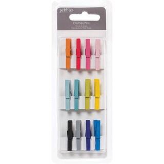"Basics Mini Clothespins 1.25"" 12/Pkg-Multicolor"