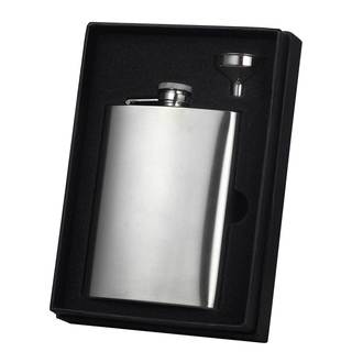 Visol Marcello Satin Finish Stainless Steel Essential II Flask Gift Set - 9 ounces