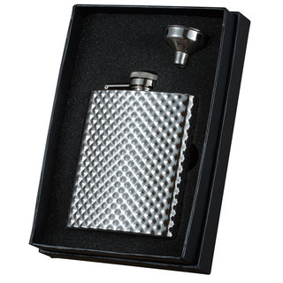 Visol Rhombus Stainless Steel Essential Flask Gift Set - 8 ounces