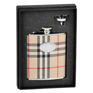 Visol Gabriella Plaid Wrap Essential Flask Gift Set - 6 ounces