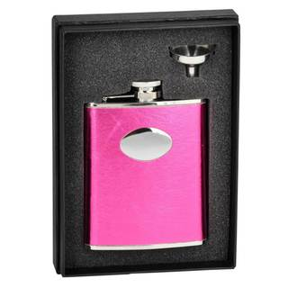 Visol Lydia Hot Pink Essential Flask Gift Set - 6 ounces