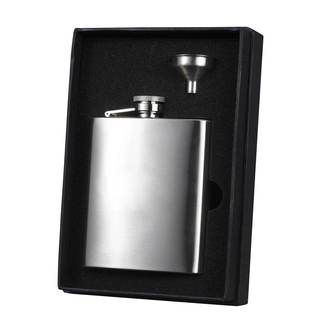 Visol Derek Stainless Steel Essential Liquor Flask Gift Set - 8 ounces - Silver