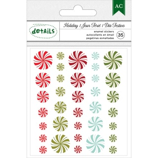 American Crafts Holiday Details Enamel Dots 35/Pkg-Candy