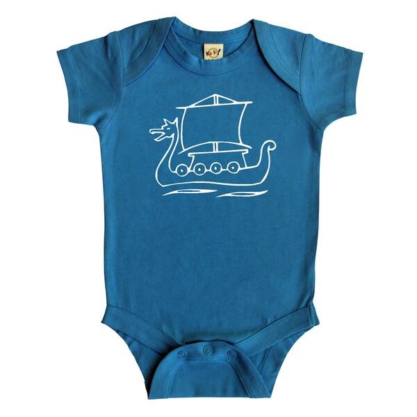 Rocket Bug Viking Ship Baby Bodysuit