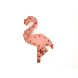Indoor/ Outdoor 2 ft. Steel Pink Flamingo Profession/Commercial MarqueeLight