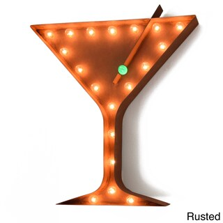 Indoor/ Outdoor 2 ft. Steel Martini Glass Profession/Commercial MarqueeSign (Option: Brown)