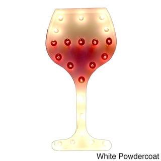 Indoor/ Outdoor Commercial Grade 2 ft. Steel Wine Glass Profession/Commercial MarqueeLight