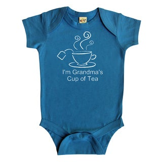 Rocket Bug 'Grandma's Cup of Tea' Baby Bodysuit