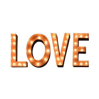 Indoor/ Outdoor Typography 'LOVE' Rusted Steel Profession/Commercial MarqueeLights