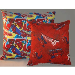 Marvel Spiderman Reversible 14-inch Throw Pillow with Spiderman Accessory/ Travel Pillow