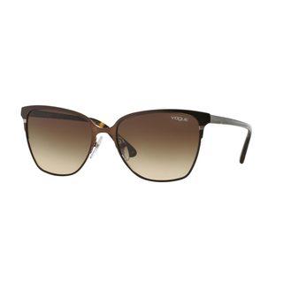 Vogue Women's VO3962S Brown Metal Square Sunglasses