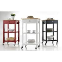 Wood Kitchen Cart on Wheels