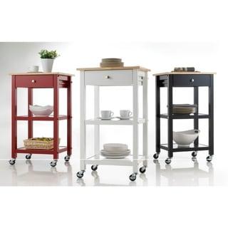 Wood Kitchen Cart on Wheels