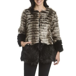 Steve Madden Women S Faux Fur Coat Free Shipping Today
