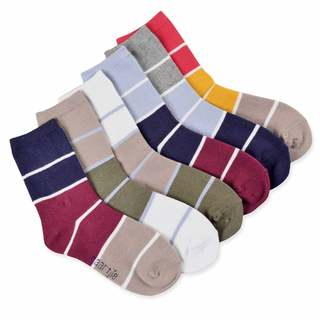 Naartjie Kids Boys Cotton Sports Crew Socks 6 Pairs Pack New Styles