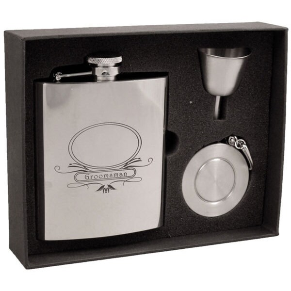 Visol Groomsman Stainless Steel Stellar Flask Gift Set - 8 ounces