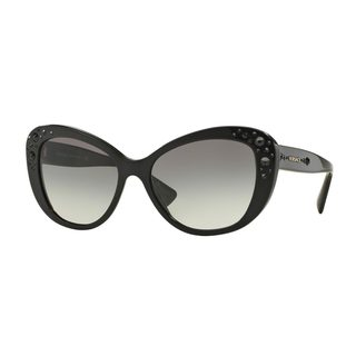 Versace Women's VE4309BA Black Plastic Cat Eye Sunglasses